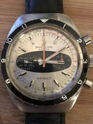 Breitling Sprint Surfboard Dial 60andrsquos Vintage Steel Chronograph Watch Model 2212