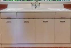 Vintage Crosley Kitchen Sink Cabinet - American Kitchenand039s Chrome Plate Faucet
