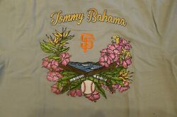 Tommy Bahama Sf Giants Silk Embroidered Shirt 15894 New With Tags Major Xxl