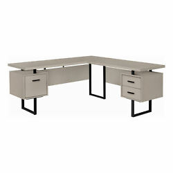 Monarch Modern Computer Desk With Taupe Finish I 7614