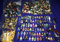 Lot Of Over330 Lego Minifigure +parts/weapons Marvel/lotr/city/marvel/potter