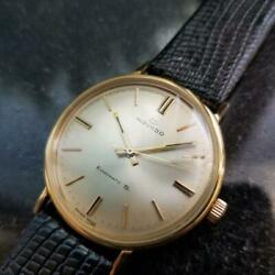 Hommes 1960s Movado Kingmatic S 34mm 14k Or Massif Automatique Swiss Vintage Gp9