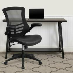 Flash Furniture Desk Chair With Wheels | Swivel Chair With Mid-back Black Mesh