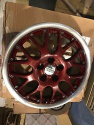 Oem Vw Mk4 16 Bbs Rs771 Rx-ii Rims Refinished Red Centers And Polished Lips 5x100