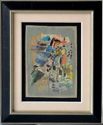 Jacques Doucet Original Abstract Collage On Heavy Carboard Signed Dated 1967
