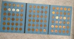 Complete 1941-1976 Lincoln Wheat Cent Set -includes All 1943 Steel Pennies 704