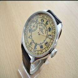 Signs Of Zodiac Marriage Watch Antique Swiss Movement Omega No Reserve