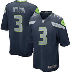 Brand New 2021 Nfl Russell Wilson Seattle Seahawks Nike Game Player Jersey Nwt 3