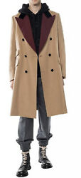 Double Breasted Coat Jacket-with Tags- Rrp3990 Aud