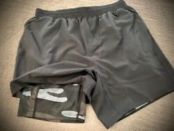Zyia Menandrsquos Black And Camo Shorts 7 Inch New Athletic Camouflage Gym Workout Yoga