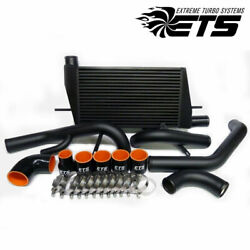 Ets 5 Black Intercooler Kit With Piping For 2008+ Mitsubishi Evolution Evo X 10