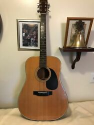 Vintage Sigma By Martin Dm-5 Acoustic Guitar Made In Japan With Case