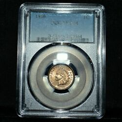 1860 Copper Nickel Cent ✪ Pcgs Ms-64 ✪ 1c Indian Head Rounded Bust Unc ◢trusted◣