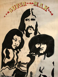 Vintage Gouache Painting Supermax Band Poster