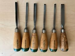 Vintage Miller Falls Wood Carving Chisels 109 Series 6 Pieces 1,3,4,5,7,9