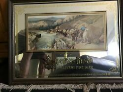 Rare Circa 1981 Anheuser Busch Delivers Fine Beer Mirror Wood Frame