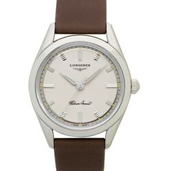 Longines Longines Heritage L28344722 Silver Dial Menand039s Watch Genuine Freesandh