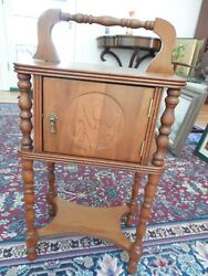 Vintage Cherry Humidor Smoke Stand Unlined