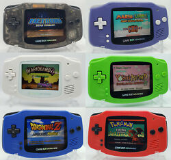 Game Boy Advance Modded Ips V2 Display Rechargeable Battery - Multiple Colors