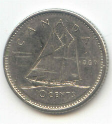 Canada 1969 Dime Canadian 10 Cent Piece 10c Ten Cents Exact Coin Shown
