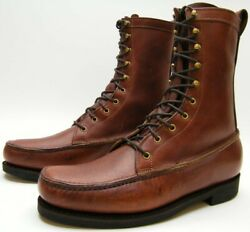 Mens Gokey Brown Leather Lace Up Moccasin Hunting Boots Sz 12 D 12d