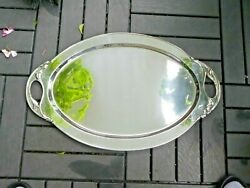 Large Stylized Art Deco Cellini Craft Sterling Silver Tray 63.71 Troy Ounces