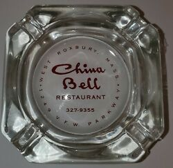 Vintage Advertising Ashtray China Bell West Roxbury Mass Nos See Pictures