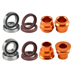 Front Rear Wheel Spacer Bearing Seal Kit For Ktm 125-500 Xcw Exc Exc-f 2016-2019