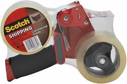 Scotch Commercial Grade Shipping Tape, 2 Rolls Of Tape, 1 Dispenser 3750-2-st