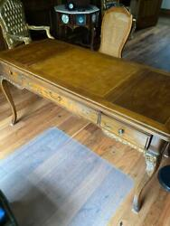 Writing Desk With Beautiful Chinoiserie Decoration With Matching Chair