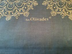 """French Provence Blue Les Olivades Cotton/linen Tablecloth 120"""" X 70""""white Detail"""