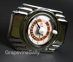 Oand039keefe And Merritt Vintage Stove Part Built In New Chromed Deco Style Clock Timer