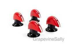 Vintage Stove Parts Set Of 4 Magic Chef 30's-40's Stove Red And Black Oven Knob