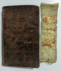1827 New Testament Bible. Published By Edmund Cushing With Vintage Bookmark