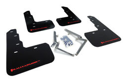 Rally Armor Black / Red Mud Flaps For 2017-2019 Honda Civic Sport Touring