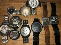 Lot Of Relic By Fossil Folio Armitron Mens Watches For Parts/repairs