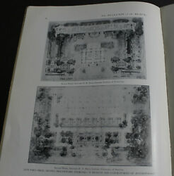 Rare Antique Beaux-arts Institute Of Design May 1931 Architecture Layout Scarce