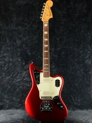 Used Fender Usa 50th Anniversary Jaguar -candy Apple Red- 2012 Free Shipping
