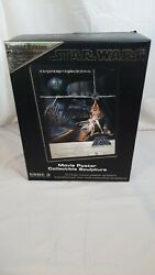Star Wars A New Hope Style A Movie Poster Sculpture Le Of 3000,rare Collectable