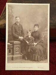 Antique Cabinet Card Photograph - Family Group - R Tudor Williams Monmouth