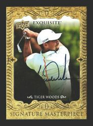 2014 Exquisite Signature Masterpiece Tiger Woods Autographed Best One On Ebay Hq
