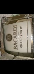 Bacardi Silver Mirror Sign Bar Man Cave 24 X 18 X 1 Officially Trade Marked