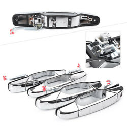 Chrome Outside Outer Door Handles Exterior For Chevy Gmc Pickup Truck 2007-2013
