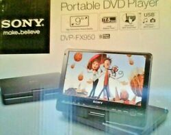 Sony Dvp-fx950 Portable Dvd And Cd Player 9 Widescreen With Wireless Remote