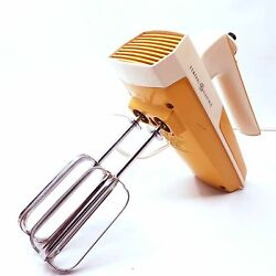 Vintage 1960's General Electric Mixer 10 Speed Hand Blender Appliance