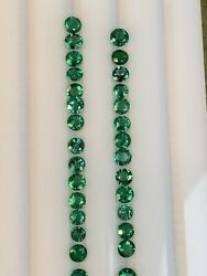 30pieces Top Quality Natural Minor Oil Zambia Emerald 4mm Round Loose Gemstone