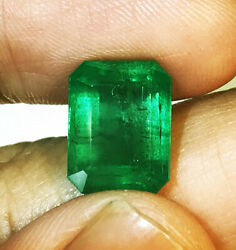 4.65cts Natural Emerald Nice Luster Top Green Zambia Loose Gemstone
