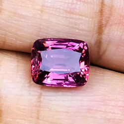 3.23cts Top Luster Natural Unheat Untreat Bur-ma Pink Spinel Loose Gemstone