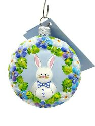 Patricia Breen Medallion Bunny Boy Easter Floral Holiday Christmas Tree Ornament