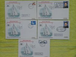 5 X First Day Cover 1973 Military Army Entry Whitbread Round The World Race